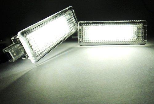 2/x LED abitacolo cortesia vano piedi sotto porta passo soffietto bianco luce per E82/F20/F22/E90/E92/m3/F30/F32/E60/F10/X3/X5/X6/Cooper Clubman