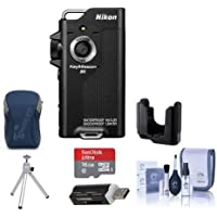 Nikon KeyMission 80 Action Camera, 12.3 MP CMOS Sensor - Bundle With 16GB SDHC Card, Camera Case, Nikon Tripod Adapter, Table Top Tripod, Cleaning Kit, Card Reader