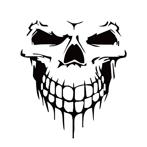 vylymuses Car Stickers and Decals 3D Skull Sticker for Car Bumper Stickers On Car Styling 6.97x6.26'' Waterproof Reflective Car Door Body Window Vinyl Stickers (Black)
