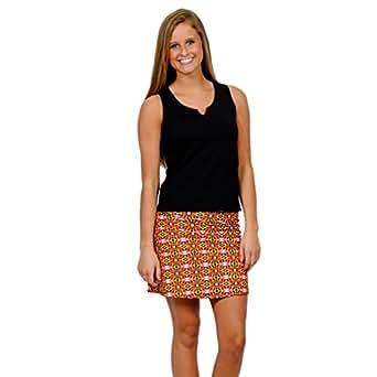Spunkwear Women's 's Maryland Skort Small Black, Red, & Yellow