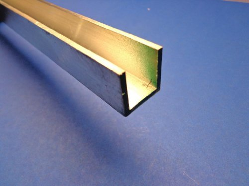 """Used, Industrial Metal Sales- 6063 T52 Aluminum Channel 1"""" for sale  Delivered anywhere in USA"""
