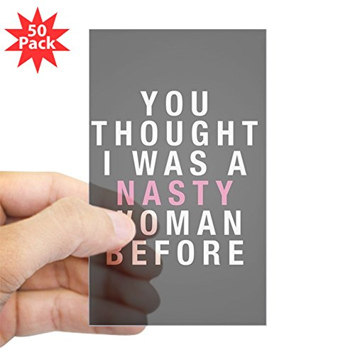 CafePress - Nasty Woman - Sticker (Rectangle 50 pk) by CafePress