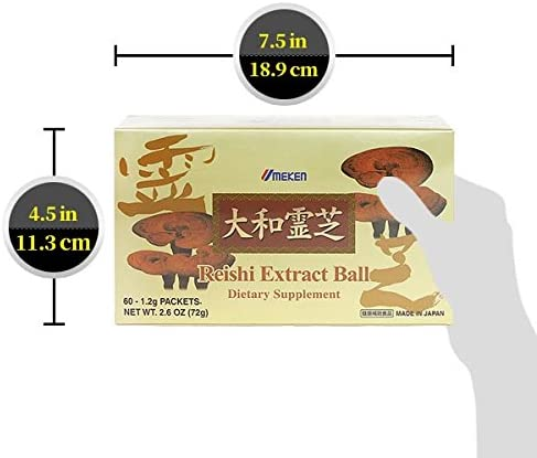 Umeken Reishi Extract Balls – Concentrated Reishi Mushrooms. 60 Packets. 2 Month Supply. Made in Japan.