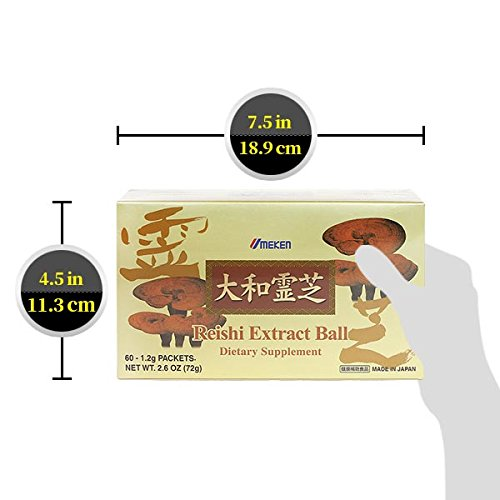 Umeken Reishi Extract Balls - Concentrated Reishi Mushrooms. 60 packets. 2 month supply. Made in Japan.