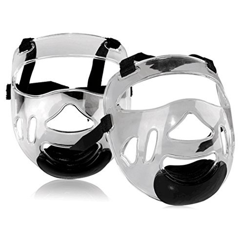 Sport Clear Face Shield, Fansport Head Protective Gear Detachable Transparent Taekwondo Helmet Mask for Men Women(1 Pcs)