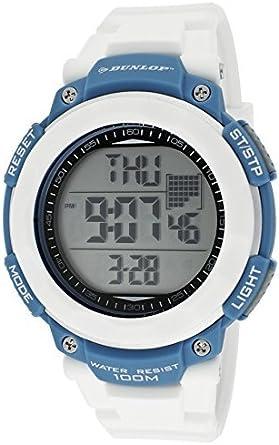 Dunlop Reloj Digital para Unisex Adultos de Cuarzo con Correa en Caucho DUN210G11