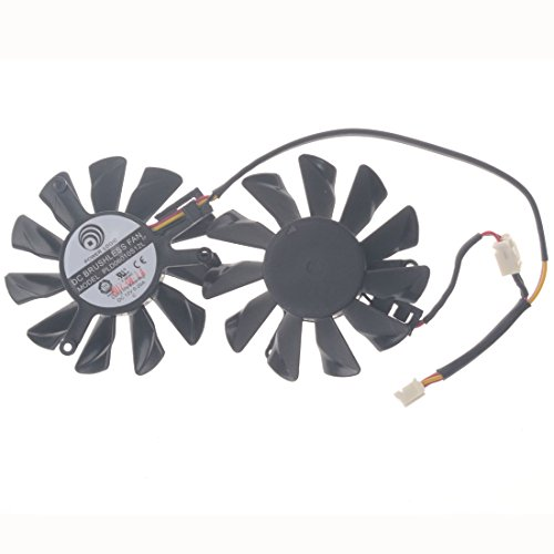 Allpartz PLD06010S12L 55mm DC 12V 0.2A 40mm 4Pin Graphics Video Card Cooling Dual Fan by Allpartz (Image #3)
