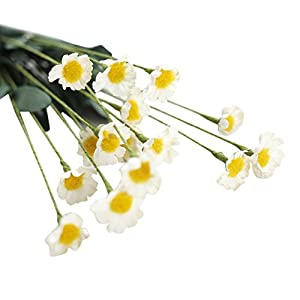 YJYdada Artificial Silk Fake Flowers Small Daisy Wedding Bouquet Party Home Decor (White) 1