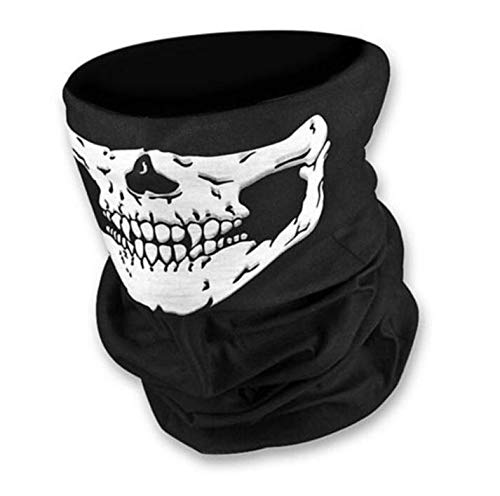 Halloween Mask - Motorcycle Skull Ghost Face Windproof Mask Outdoor Sports Warm Ski Caps Bicyle Bike Balaclavas Masks - Realistic Kids Chainsaw Over Baby Man Donald Yoda Venon -