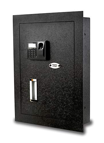 Viking Security Safe VS-52BLX Biometric Fingerprint Hidden Wall Safe (Best Wall Safe For Home)