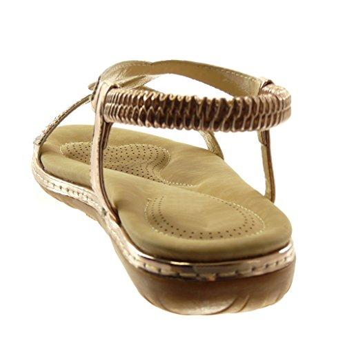 Slip de Strass Zapatillas Tobillo Correa Mujer On Correa Moda Sandalias Angkorly Fantas cOB1Anvt