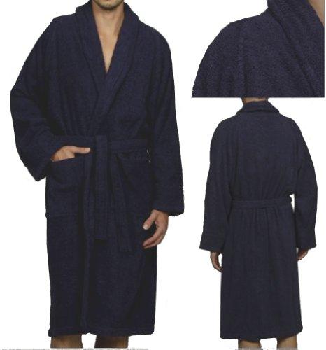 MARRIKAS Unisex LARGE Egyptian Cotton Quality NAVY ROBE - Marrikas Mens Robe