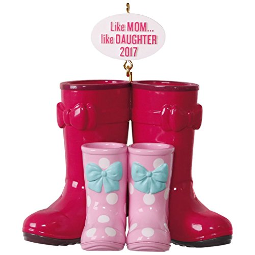 Hallmark Keepsake 2017 Winter Boots Like Mom, Like Daughter Dated Christmas (Little Brother Ornament)