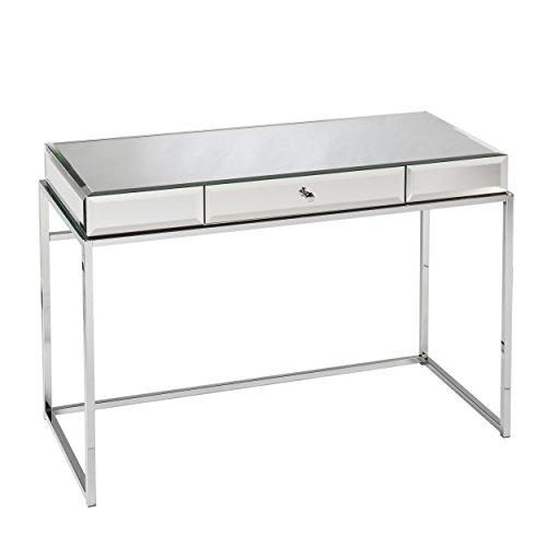 Southern Enterprises AZ4729OH Dana Mirrored Desk with Drawer, Mirror, Chrome by Southern Enterprises