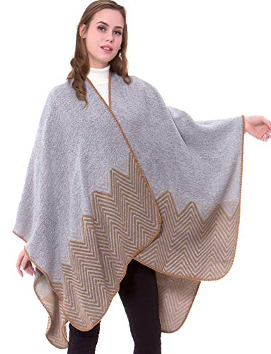 sunseen Women's Multifunctional Shawl Wrap Oversized Poncho Cape Unique Blanket Scarf Soft Winter Pashmina Cardigans (Style 5)