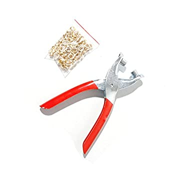 Alicates de ojal y ajuste de costura Punzón para perforadora toldos piscina cubre herramienta con 50 ojales: Amazon.es: Amazon.es