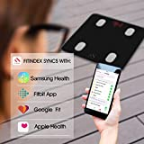 FITINDEX Bluetooth Body Fat Scale, Smart Wireless