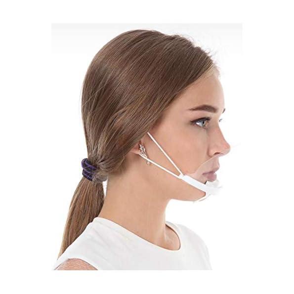 5X-Visier-Gesichtsvisier-Maske-Gesichtsschild-Anti-Fog-Face-Shield-KEIN-BESCHLAGEN-Weiss