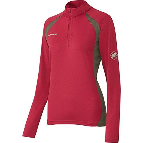 マニアスプレー保護する◎MAMMUT(マムート) Performance Dry Zip ロングスリーブシャツ Women レディース 品番:1041-10030 カラー:(3453)magenta-titanium
