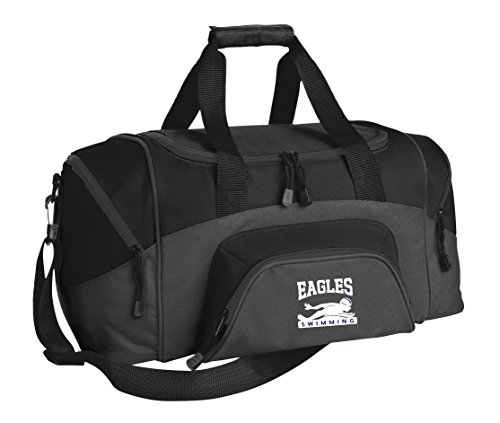 Customized Swim Team Gym Bag | Small Swimming Sport Duffel (Pack of 18 Bags/Black/Charcoal) by ALL ABOUT ME
