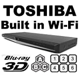 Toshiba BDX-5300(Upgraded) 2D/3D Region Free Blu-Ray DVD Disc Player Plus 6-Feet HDMI Cable Bundle