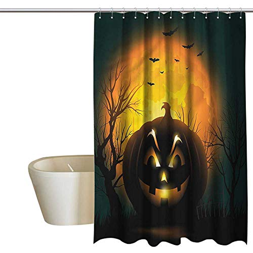RenteriaDecor Shower Curtains Tumblr Halloween,Fierce Evil Character,W108 x L72,Shower Curtain for Girls