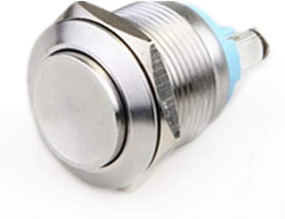 CHUN-Accessory - 16mm Momentary Metal Push Button Switch Waterproof High Head Shape 3A/250VDC 21DmSfowZEL