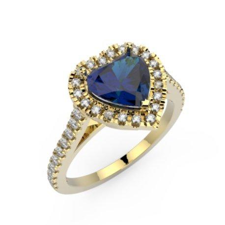 MELIA Bagues Or Jaune 18 carats Saphir Bleu 0,6 Cur