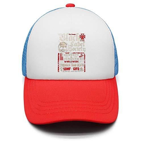 Boy Girl Black-Label-Society-Skull- Plain Baseball Cap Adjustable Unisex Visor Hat