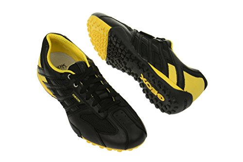 Geox Geox Snake - Herren Sneaker - schwarz gelb - U4207K 01443 C9241 - Zapatos de cordones para hombre, color negro, talla 41