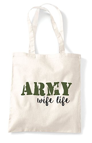 Bag Shopper Tote Natural Life Army Wife SYw4tTtq