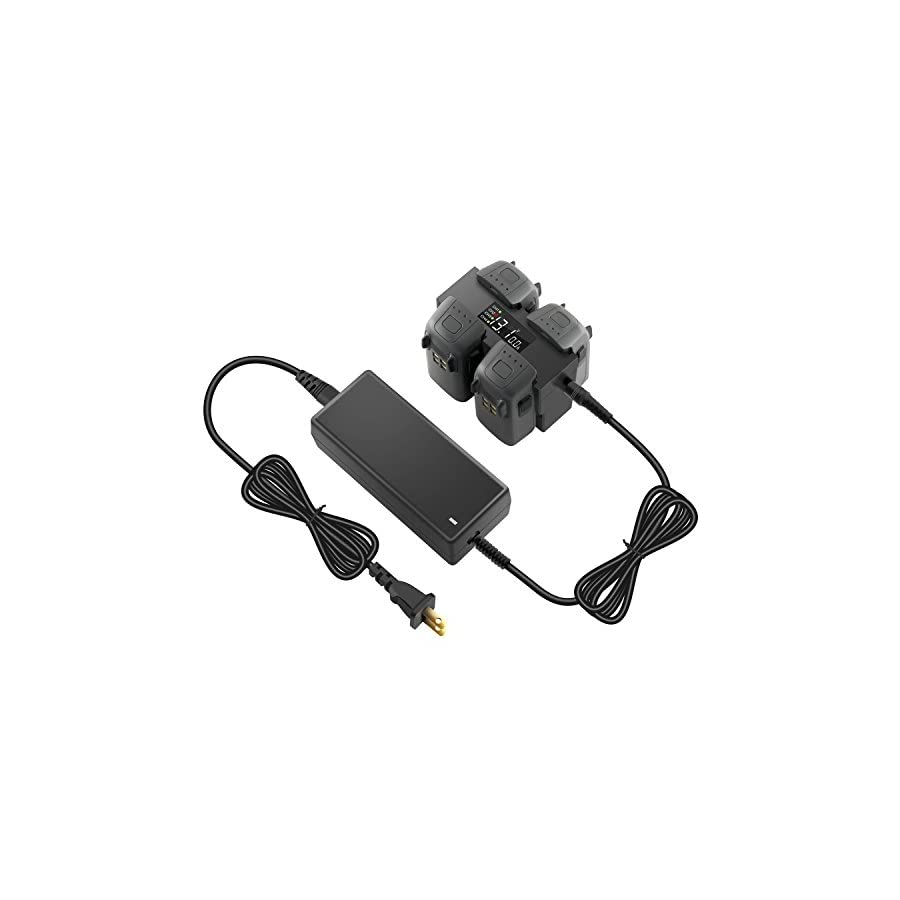 Anbee DJI Spark Multi Battery Charger Hub Station, Fast Charger, Parallel Quad Charging For DJI Spark Drone