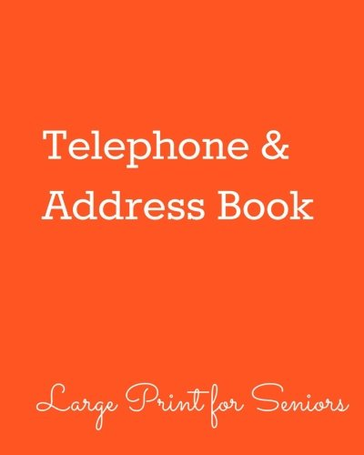 Telephone & Address Book: Large Print Edition for Seniors