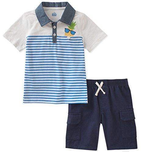 Kids Headquarters Baby Boys 2 Pieces Polo Short Set