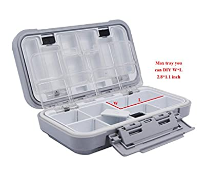 Acekit Waterproof Fishing Tackle Box For Lures Lake Bait Casting Fishing