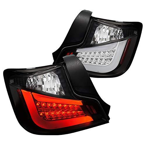 Spec-D Tuning LT-TC10JMLED-TM Scion tC Black LED Tail Lights Rear Brake Lamp