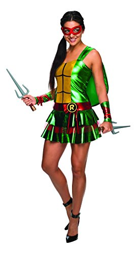 Teenage Mutant Ninja Turtle Adult Costumes (Secret Wishes Women's Teenage Mutant Ninja Turtles Raphael Costume Dress, Multi, Medium)