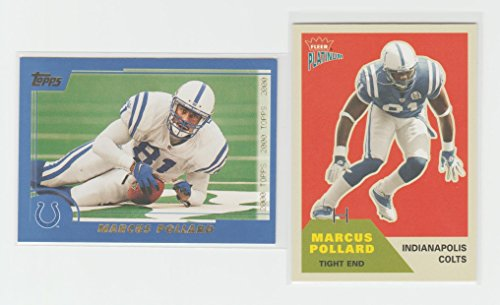 Marcus Pollard 2-Card Lot 2000, 2003 Football Cards Colts Topps & - 2003 Card Topps Football