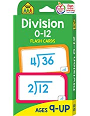 School Zone - Division 0-12 Flash Cards - Ages 9 and Up, 3rd Grade, 4th Grade, Math Equations, Division Practice, Dividends, Numbers 0-12, and More