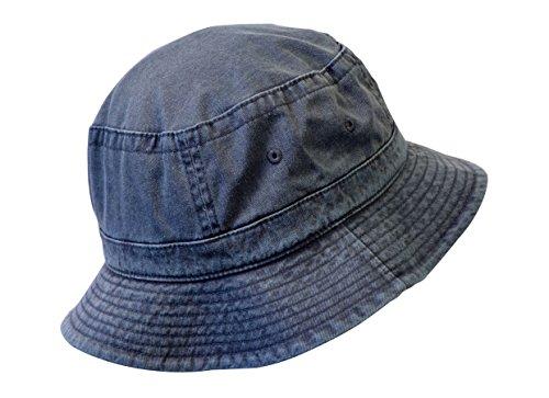 KC Caps Denim Summer Bucket Hat, Unisex Pigment Dyed Washed Garment Outdoor Hat by KC Caps (Image #3)