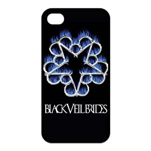 FEEL.Q- Unique Custom TPU Rubber iPhone 4/4S Case Cover - Black Veil Brides by runtopwell