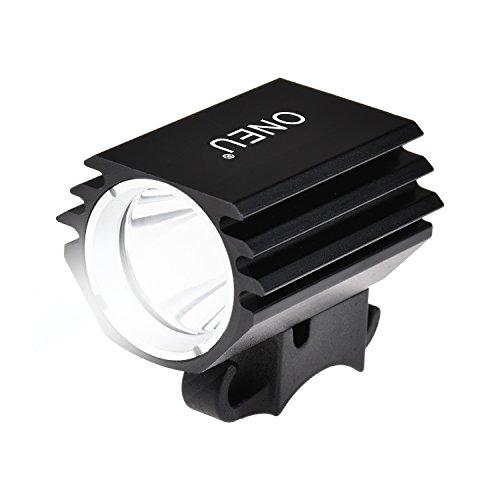 ONEU Fahrradbeleuchtung, Cree XM-L2 LED Fahrradlicht, 1800 Lm Ultra Hellen Wiederaufladbare Wasserdicht Sport Fahrrad Frontlichter mit Akku und Rücklichter