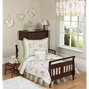 Sweet Jojo Designs Riley's Roses Floral Collection Window Valance
