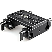 SmallRig Camera Mounting Plate Tripod Mounting Plate with 15mm Rod Clamp Railblock for Rod Support / Dslr Rig Cage - 1775