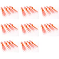 8 x Quantity of Hubsan X4 H107C+ PLUS Transparent Clear Orange Propeller Blades Props Rotor Set 55mm Factory Units