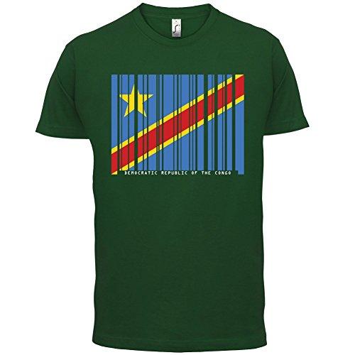 Democratic Republic of the Congo / Demokratische Republik Kongo Barcode Flagge - Herren T-Shirt - Flaschengrün - XL