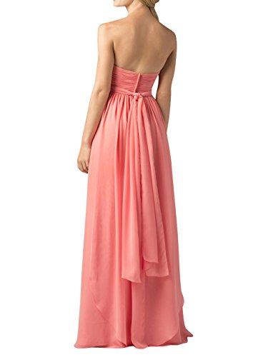 Brau Rock Festlichkleider Langes Gelb Brautjungfernkleider La mia Partykleider A Einfach Chiffon Linie Abendkleider BqnR5PwT