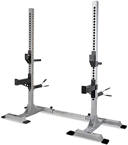 Valor Fitness Squat Stand Squat Rack Tower Bench Press Stands Weight Lifting Garage Home Gym Equipment