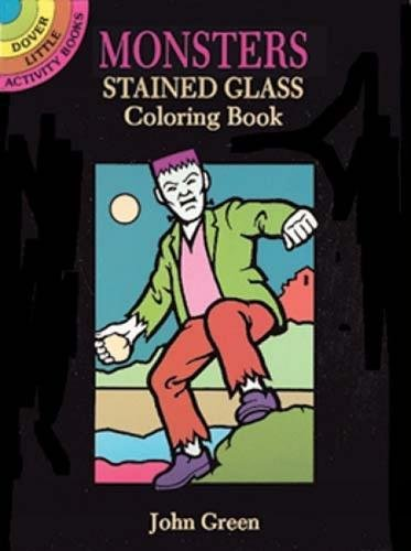 Monsters Stained Glass Coloring Book (Dover Stained Glass Coloring -