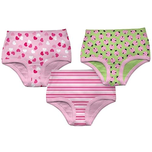 90a8ce2120 Green Sprouts Little Girls  Underwear 3Pk - Assorted Prints - 2-3 Years